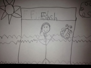 Picture that she drew of me a few weeks at school <3